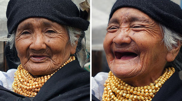 He travels the world and tell people that they are beautiful, then captures their reactions. This is the result...