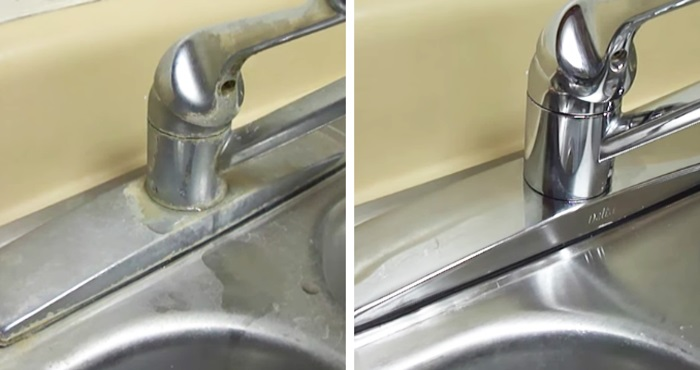 This simple trick for cleaning your sink will change your life forever!