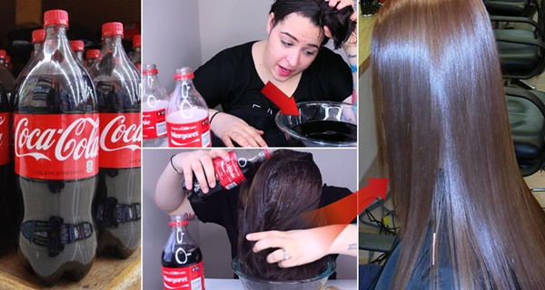 She washed her hair with Coke.. after 10 minutes she didn't believe the result!