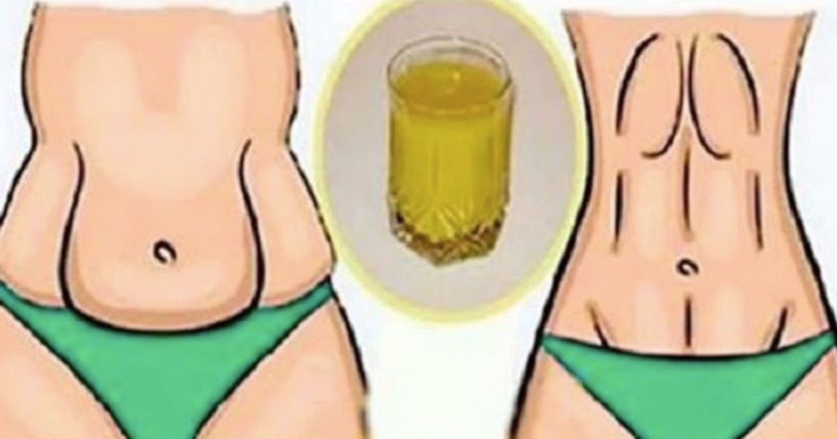 Drink one cup of this drink before sleep - the next morning you'll feel big difference around your waist