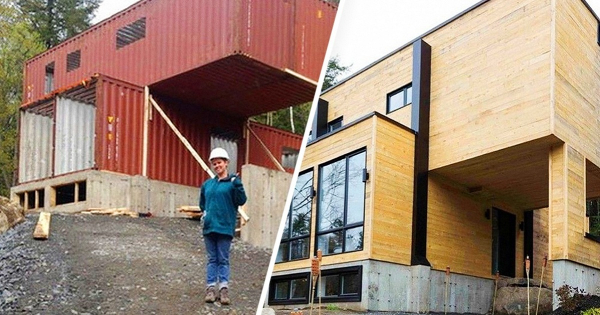 This talented and genius woman built her house from 4 containers - and it looks just amazing!