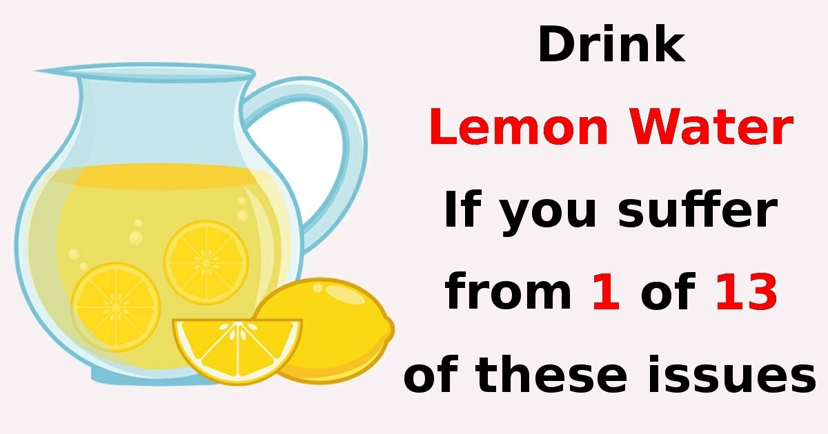 Scientists reveal: 13 things that will happen to your body if you start drinking one glass of lemon water every day