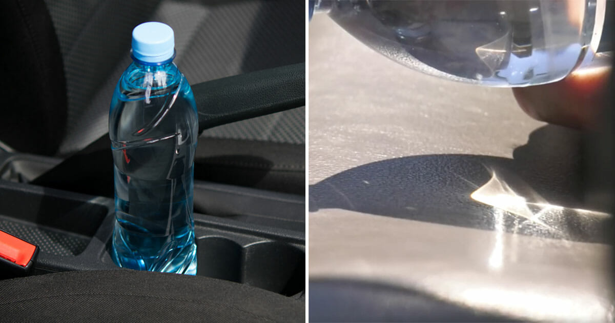 Firefighters warn: Never leave a bottle of water in the car or you will find yourself in mortal danger