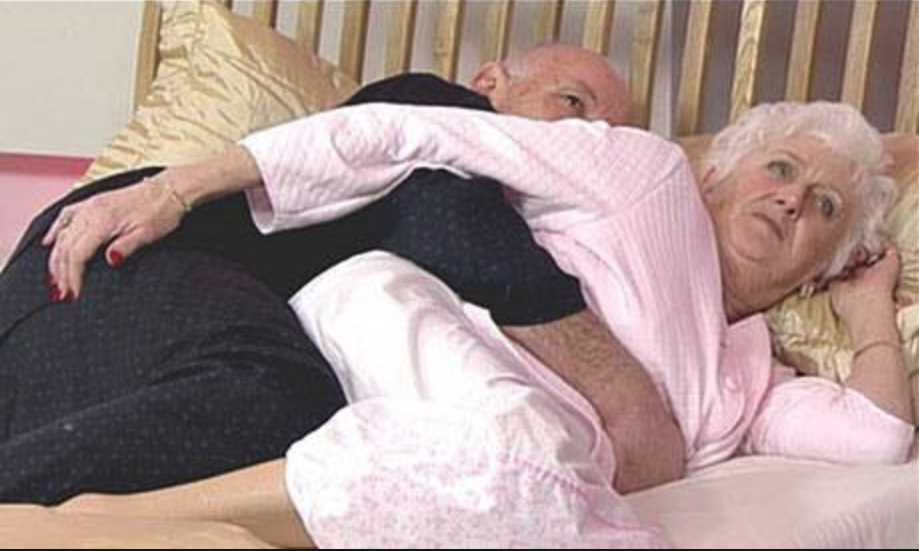 After 50 years of marriage, a couple were lying in bed one night when the woman felt her husband's hand..
