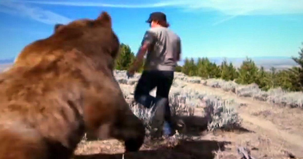 This guy saved an abandoned bear cub. 6 years later, he is an 800-pound bear's best friend